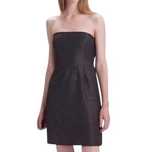 Theory Connie Strapless Shimmer Dress